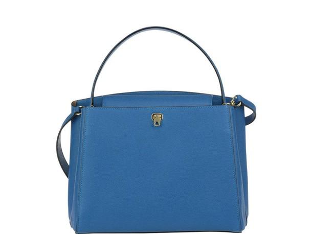 Valextra bag gold blue