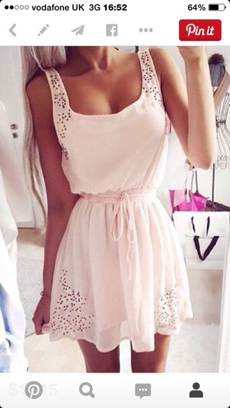 dress baby pink clothes girl blonde hair summer dress