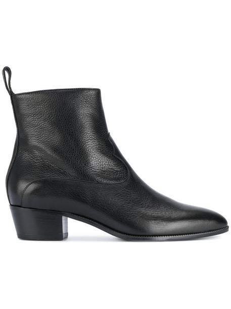 L'Autre Chose western boots women leather black shoes