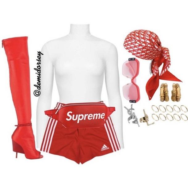 shorts red adidas
