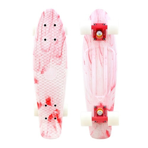 Penny Skateboards Penny Marble Complete Skateboard White/Red - 6x22