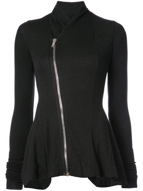 Rick Owens Lilies jacket women fit black wool