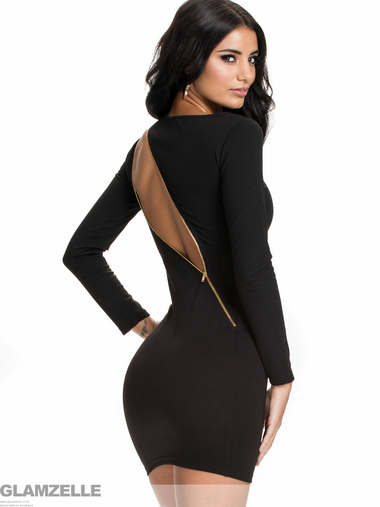 """""""timeless desire """"backless zipper dress (3 colors available) – glamzelle"""