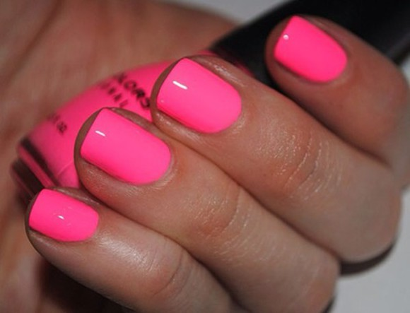 nail polish nails hot pink