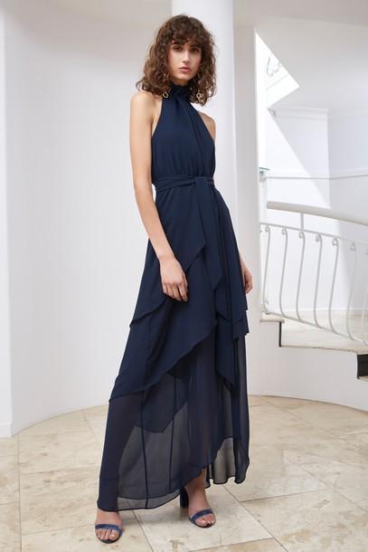 C/MEO COLLECTIVE dress maxi dress maxi navy
