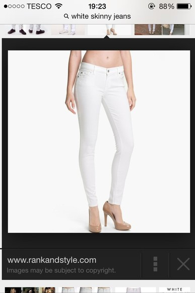 jeans petite white size 4