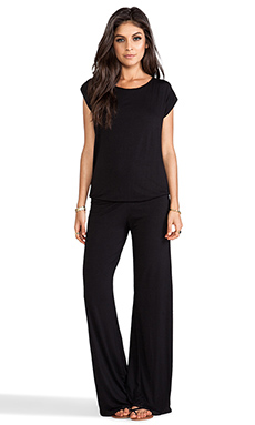 Indah Sooty Open Back Lounge Pantsuit in Black | REVOLVE