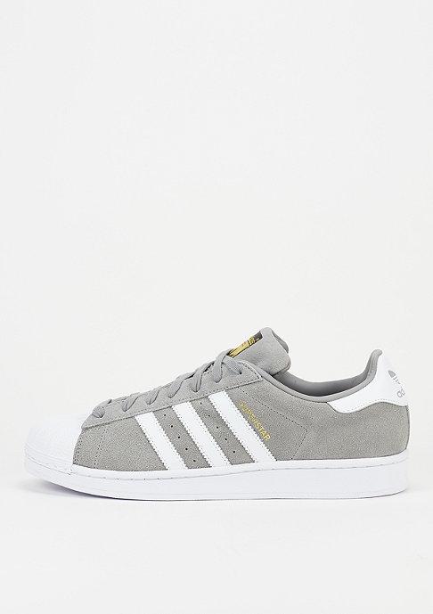solid grey suede adidas superstar