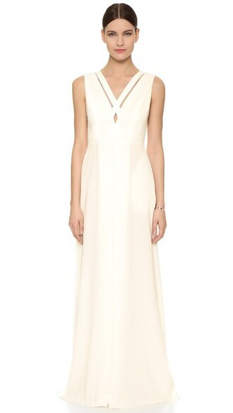 gown cross white dress