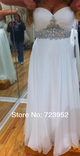 Aliexpress.com : buy free custom made plus size white party dresses new fashion 2013 sweetheart neckline rhinestone homecoming prom dress formal  from reliable dress thailand suppliers on suzhou aee wedding dress co. , ltd