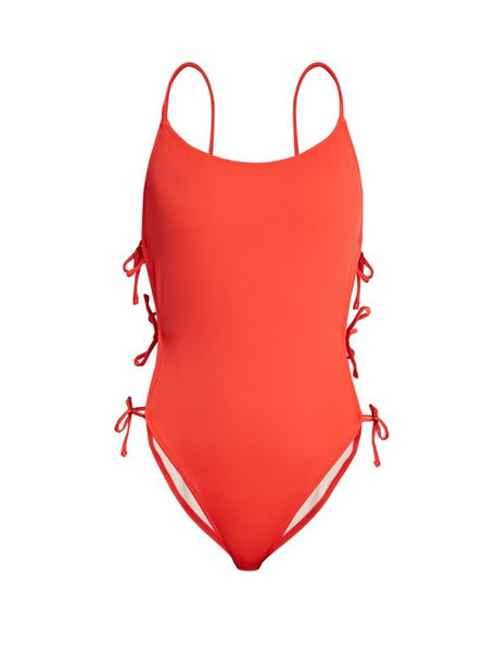 Solid & Striped - The Lily Tie Side Swimsuit - Womens - Red