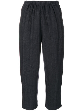 cropped women wool grey pants