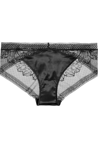 lace satin black underwear