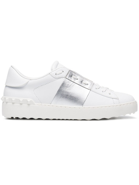 Valentino open women sneakers leather white shoes