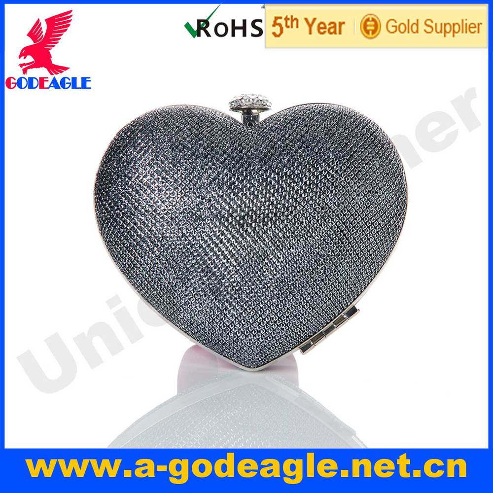 Free shipping! 2013 Heart shape 4 colors Frosting PU Mushroom head diamond switch Evening bag clutch bag for women-in Evening Bags from Luggage & Bags on Aliexpress.com