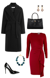 coat,wool coat,winter outfits,work outfits,office outfits,how to get away with murder,pearl earrings,dress,bag,jewels,shoes