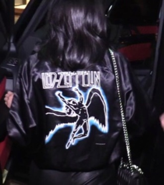 coat led zeppelin kylie jenner jacket bomber jacket