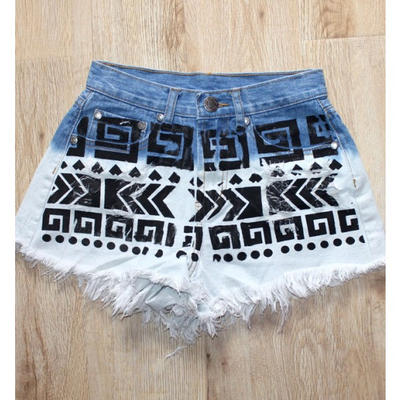 Hot Pants In Tribal Print