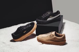 shoes puma puma sneakers rihanna style rihanna puma creepers suede rihanna pumas sneakers oatmeal black black or tan white shoes black and white puma suede puma x rihanna puma creepers rihana rihanna shoes rihanna clothes yeezy rihana fenty x puma fenty x puma fenty fenty x puma rihanna puma fenty fentypuma puma fenty creepers