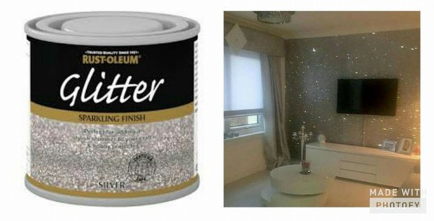 Home Accessory Glitter Silver Wall Decor Painting Paint