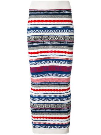 skirt knitted skirt long women white