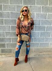 the fashion canvas – a fashion & lifestyle blog,blogger,jeans,shoes,bag,sunglasses,gucci,ripped jeans,gucci bag,ankle boots,fall outfits,spring outfits