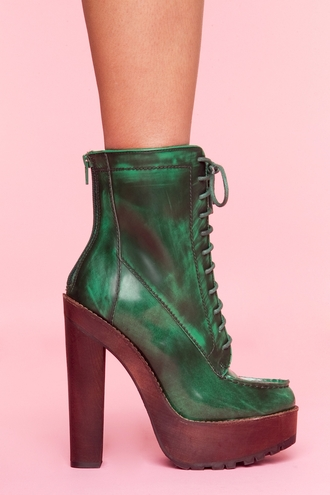 green shoes leather shoes green boots leather boots