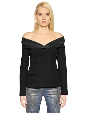 jacket sailor wool black