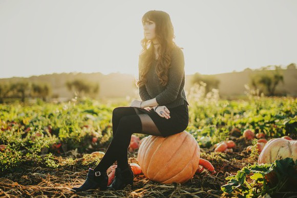 black skirt blogger mod fox halloween knee high socks thanksgiving