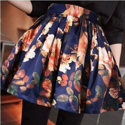 2013 women's retro skirt casual fashion vintage floral skirts hot lady good quality w3328