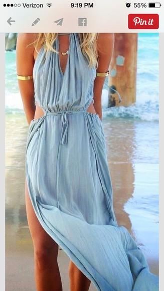 blue dress summer dress