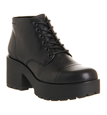 Vagabond Dioon Lace Up Boot Black Leather - Ankle Boots