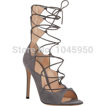 a6873ff3684 sexy leather fashion roman women high heels lace up gladiator sandals for  women new design-in Women s Sandals from Shoes ...