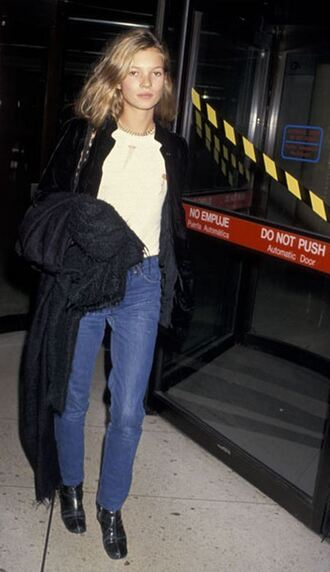 jeans clothes blue jeans 90s style model kate moss casual