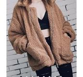 jacket,teddy bear,beige
