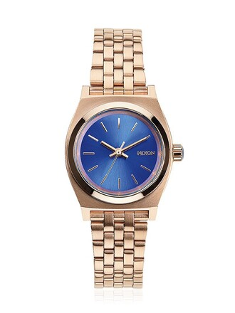 rose gold rose watch gold blue jewels