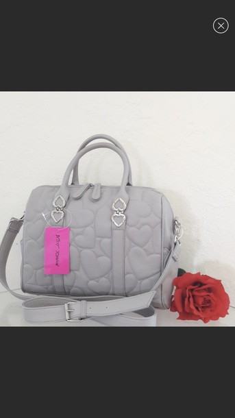 bag grey betsey johnson satchel