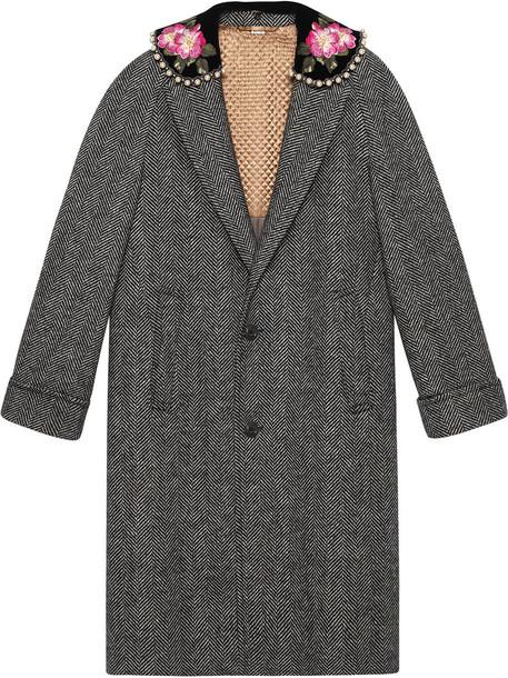 gucci coat women spandex silk grey