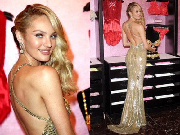 victoria's secret sexy victoria's secret model dress sexy dress sexy dresses prom candice swanepoel model cut-out dress long prom dress gold gold dress