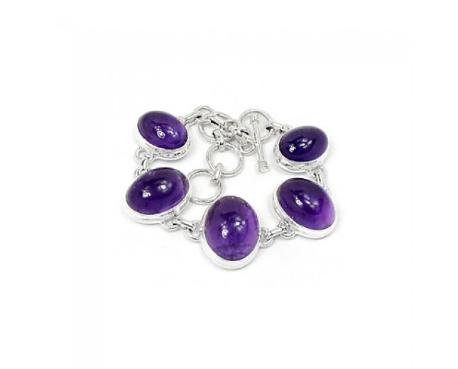 Beautiful 925 Sterling Silver Amethyst Bracelet