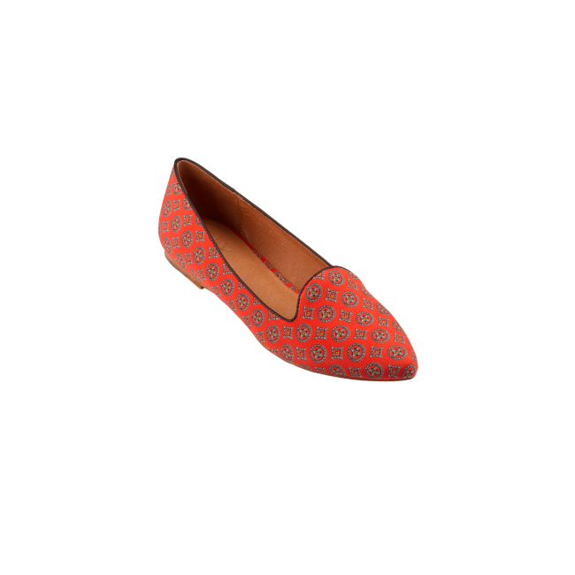 JOIE Day Dreaming Flats Icon Red/Black | Silk Flats