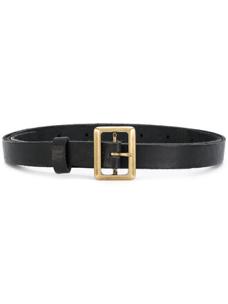 women belt leather black