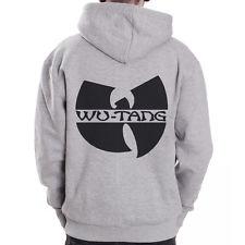 WU Tang Clan Logo Leopard DJ RAP HIP HOP Grey ZIP Hoodie Hoody Sweatshirt | eBay