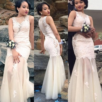 dress long prom dress prom dress lace dress nude dress mermaid mermaid prom dress
