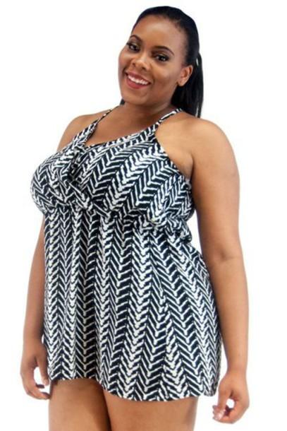 Blouse Plus Size Plus Size Top Aztec Dress Black And White