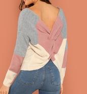 sweater,knit,girly,girl,girly wishlist,knitwear,knitted sweater,backless,cute,sweatshirt