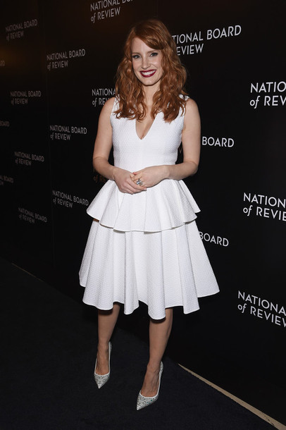 white dress jessica chastain