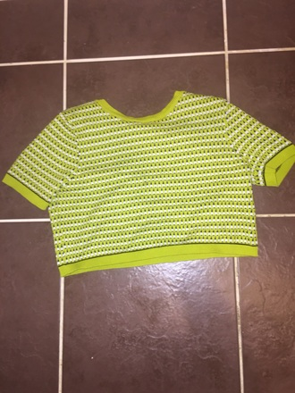 t-shirt green topshop