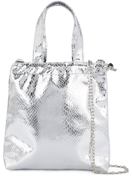 G.V.G.V. women leather grey metallic bag