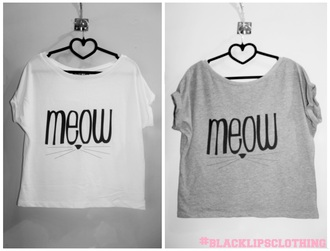 jersey t-shirt top meow tshrt girl